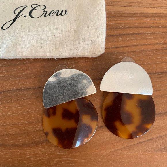 J.Crew Silver and Tortoise Earrings